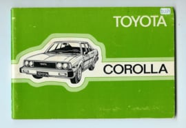 Toyota Corolla  Instructieboekje 80 #4 Nederlands