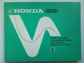 Honda CB900FZ CB900FA  Onderdelenboek 79 #1 Engels Frans Duits Spaans