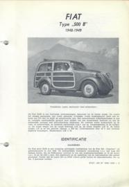 Fiat 500  B  Vraagbaak ATH 48-49 #1 Nederlands