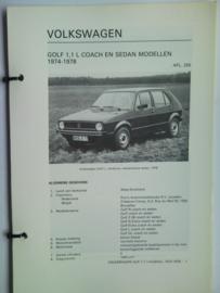 Volkswagen Golf 1  Vraagbaak ATH 74-78 #2 Nederlands