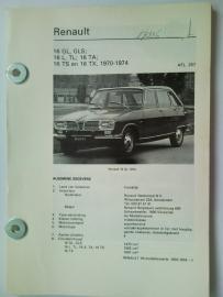 Renault 16  Vraagbaak ATH 70-74 #2 Nederlands