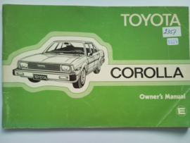 Toyota Corolla  Instructieboekje 80 #3 Engels