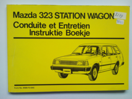 Mazda 323  Instructieboekje 84 #1 Nederlands Frans