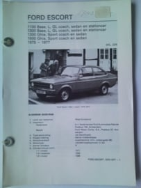 Ford Escort  Vraagbaak ATH 75-77 #2 Nederlands