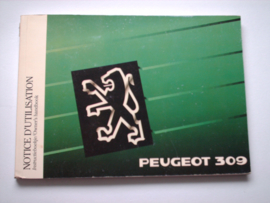 Peugeot 309  Instructieboekje 89 #1 Nederlands Frans Engels