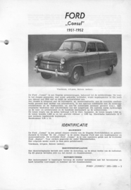 Ford Consul  Vraagbaak ATH 51-52 #1 Nederlands