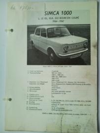 Simca 1000  Vraagbaak ATH 64-67 #2 Nederlands