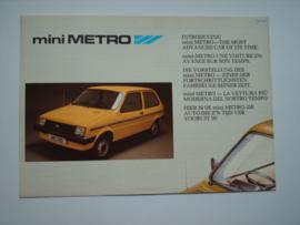 Austin Metro  Brochure 86 #3 Nederland Frans Engels Duits
