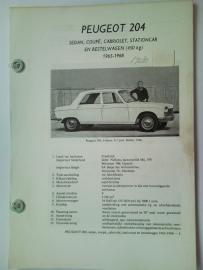 Peugeot 204  Vraagbaak ATH 65-68 #1 Nederlands