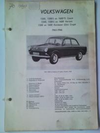 Volkswagen Karmann Ghia  Vraagbaak ATH 65-66 #1 Nederlands