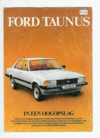 Ford Taunus  Instructieboekje 79 #1 Nederlands