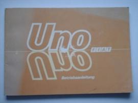 Fiat Uno  Instructieboekje 85 #2 Duits