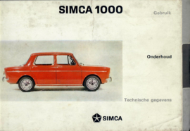Simca 1000  Instructieboekje 67 #1 Nederlands