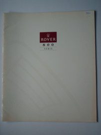 Rover 800  Brochure 93 #3 Nederlands