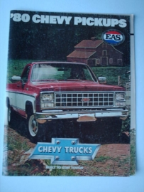 Chevy Pickups  Brochure 80 #1 Engels