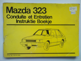 Mazda 323  Instructieboekje 81 #2 Nederlands Frans