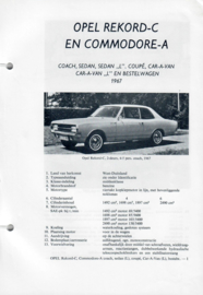 Opel Rekord C Commodore A  Vraagbaak ATH 67 #1 Nederlands