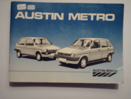 Austin Metro  Instructieboekje 86 #1 Nederlands