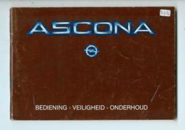 Opel Ascona C  Instructieboekje 83 #4 Nederlands