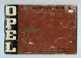 Opel Ascona A  Instructieboekje 74 #1 Nederlands