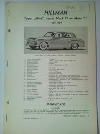 Hillman Minx  Vraagbaak ATH 53-54 #1 Nederlands