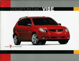 Pontiac Vibe  Brochure .03 #1 Engels