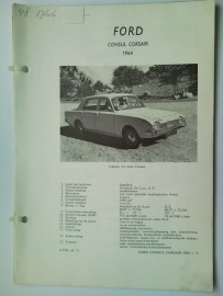 Ford Consul Corsair  Vraagbaak ATH 64 #3 Nederlands