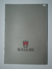 Rover 800  Brochure 87 #1 Nederlands