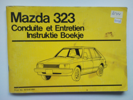 Mazda 323  Instructieboekje 80 #1 Nederlands Frans