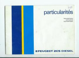 Peugeot 205  Instructieboekje 85 #1 Nederlands Duits Frans Italiaans