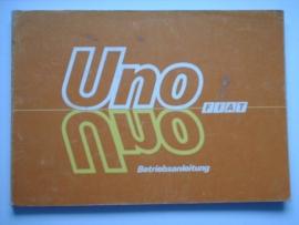 Fiat Uno  Instructieboekje 86 #1 Duits