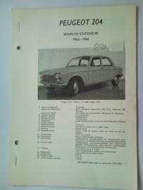 Peugeot 204  Vraagbaak ATH 65-66 #3 Nederlands