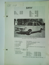 BMW 1800 2000  Vraagbaak ATH 63-68 #3 Nederlands