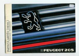 Peugeot 205  Instructieboekje 88 #4 Nederlands Duits Frans Italiaans