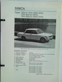 Simca 1301 1501  Vraagbaak ATH 67-70 #1 Nederlands