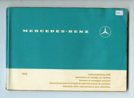 Mercedes-Benz Opbouwinstructies  Instructieboekje 72 #1 Duits