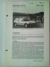 Honda Civic  Vraagbaak ATH 83-87 #1 Nederlands