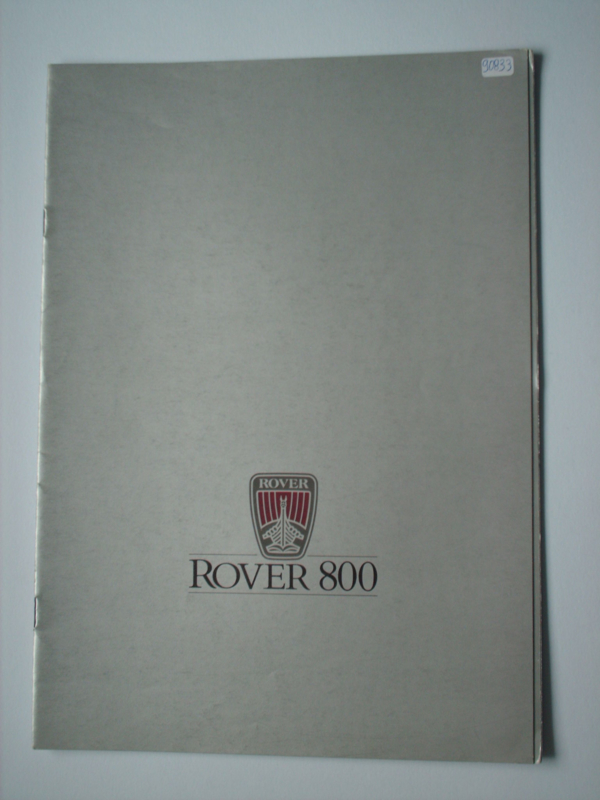 Rover 800  Brochure 86 #2 Nederlands
