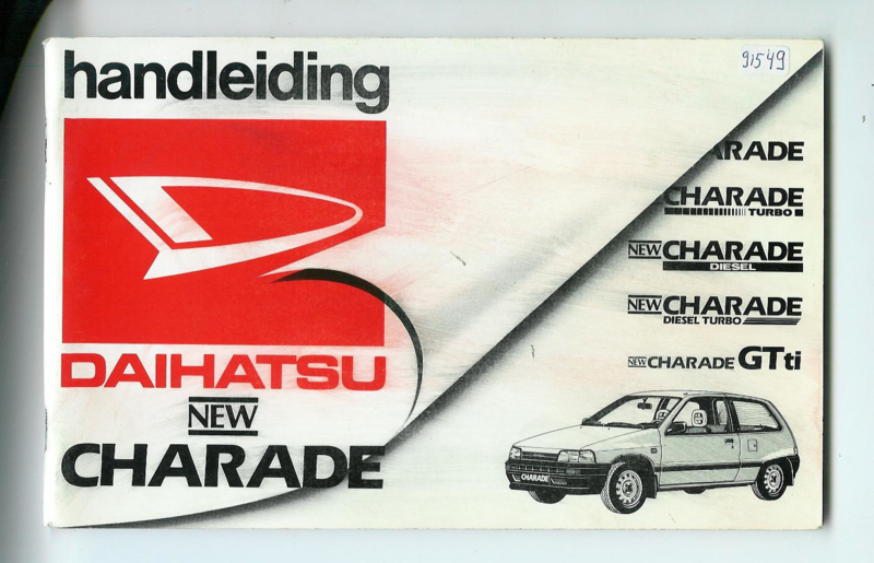 Daihatsu Charade  Instructieboekje 87 #1 Nederlands