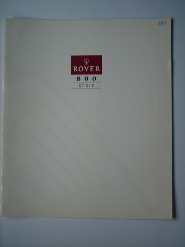 Rover 800  Brochure 93 #1 Nederlands