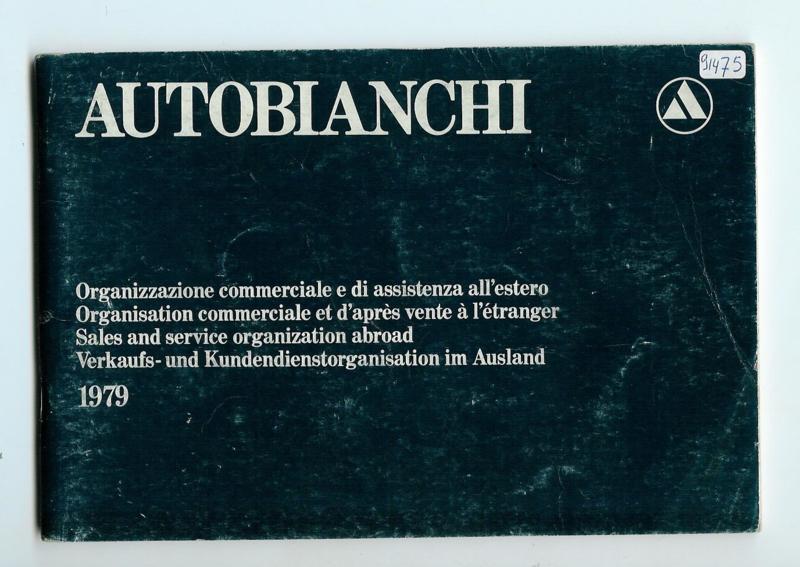 Autobianchi    Dealerlijst 1979 #1 Engels Frans Duits Spaans