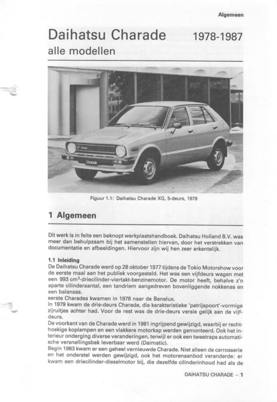 Daihatsu Charade  Vraagbaak ATH 78-87 #1 Nederlands