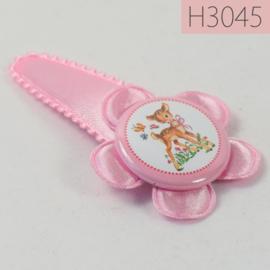 Haarknipje flatback - hertje roze