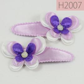 Haarknipjes vlinder - lila (set van 2)