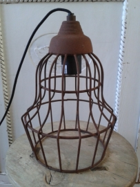 Stoere hanglamp roest