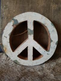 Peaceteken hout