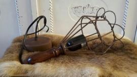 Stoere hanglamp roest en hout