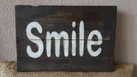 """Tekstbord """"SMILE"""""""