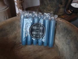 Setje kaarsen blauw