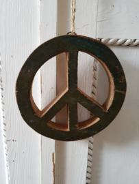 Peace teken hout groen